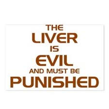 The Liver Is Evil And Must Be Punished Postcards (