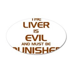 The Liver Is Evil And Must Be Punished Wall Decal