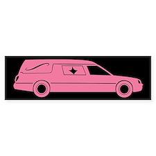 Cute Pink Hearse Bumper Sticker