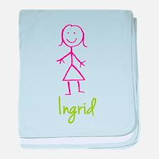 Ingrid-cute-stick-girl.png baby blanket