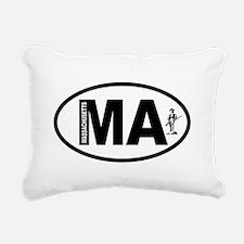 Massachusetts Minuteman Rectangular Canvas Pillow