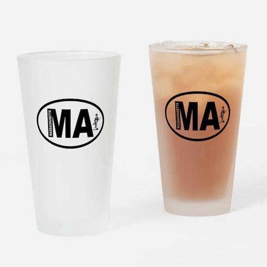 Massachusetts Minuteman Drinking Glass