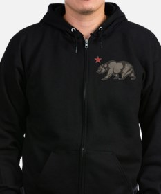 California Bear with star Zip Hoodie