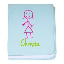 Christa-cute-stick-girl.png baby blanket