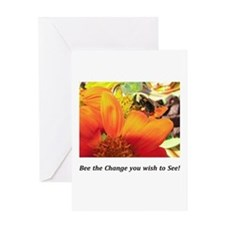 Bee the Change Gifts Greeting Card
