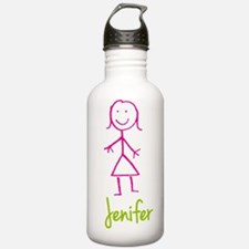 Jenifer-cute-stick-girl.png Water Bottle