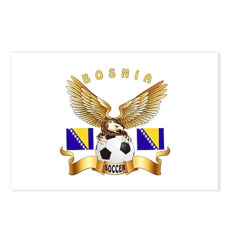 Bosnia Football Design Postcards (Package of 8)