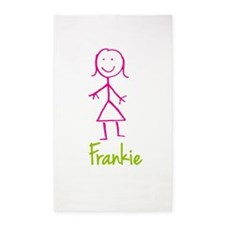 Frankie-cute-stick-girl.png 3'x5' Area Rug