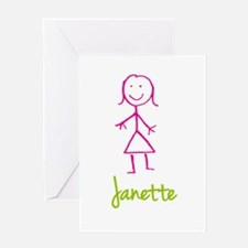 Janette-cute-stick-girl.png Greeting Card