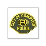 Compton Police Square Sticker 3