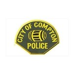 Compton Police 35x21 Wall Decal