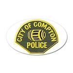 Compton Police 35x21 Oval Wall Decal