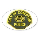 Compton Police Sticker (Oval)