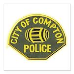 Compton Police Square Car Magnet 3