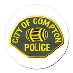 Compton Police Round Car Magnet