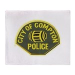 Compton Police Throw Blanket