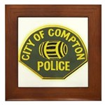 Compton Police Framed Tile