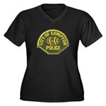 Compton Police Women's Plus Size V-Neck Dark T-Shi