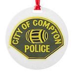 Compton Police Round Ornament