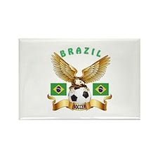 Brazil Football Design Rectangle Magnet