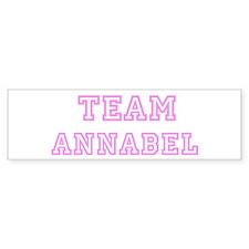 Pink team Annabel Bumper Bumper Sticker