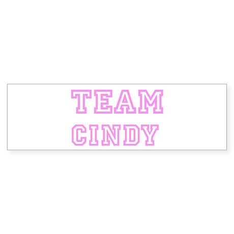Pink team Cindy Bumper Sticker