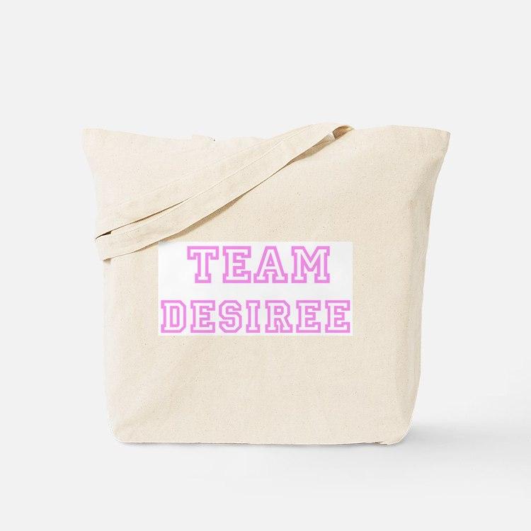 Pink team Desiree Tote Bag