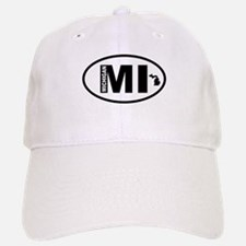Michigan Map Baseball Baseball Cap