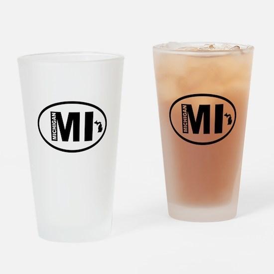 Michigan Map Drinking Glass