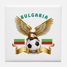 Bulgaria Football Design Tile Coaster