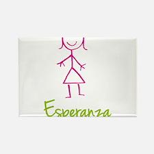 Esperanza-cute-stick-girl.png Rectangle Magnet