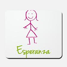 Esperanza-cute-stick-girl.png Mousepad