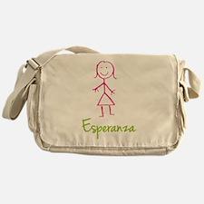 Esperanza-cute-stick-girl.png Messenger Bag