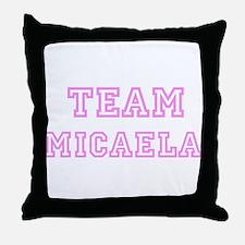 Pink team Micaela Throw Pillow