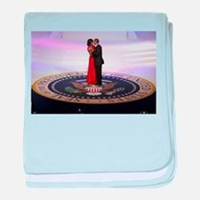 Michelle Barack Obama baby blanket