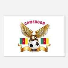 Cameroon Football Design Postcards (Package of 8)