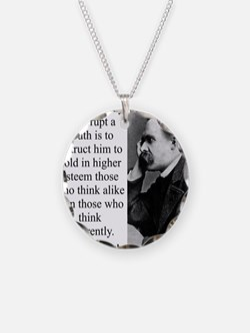 The Surest Way To Corrupt - Nietzsche Necklace
