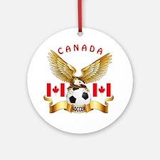 Canada Football Design Ornament (Round)