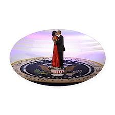 Michelle Barack Obama Oval Car Magnet