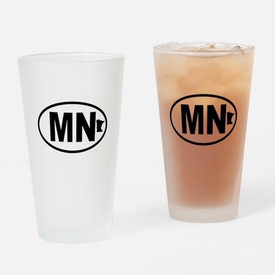 Minnesota Map Drinking Glass