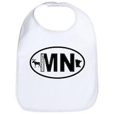 Minnesota Moose and Map Bib
