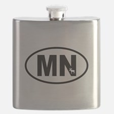Minnesota Moose Flask