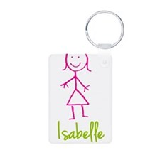 Isabelle-cute-stick-girl.png Aluminum Photo Keycha