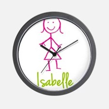 Isabelle-cute-stick-girl.png Wall Clock
