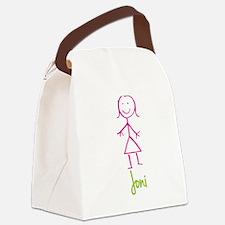 Joni-cute-stick-girl.png Canvas Lunch Bag
