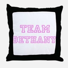 Pink team Bethany Throw Pillow