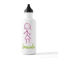 Graciela-cute-stick-girl.png Water Bottle