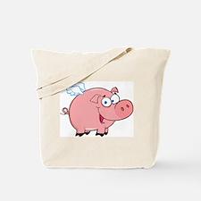 Flying Pig Tote Bag