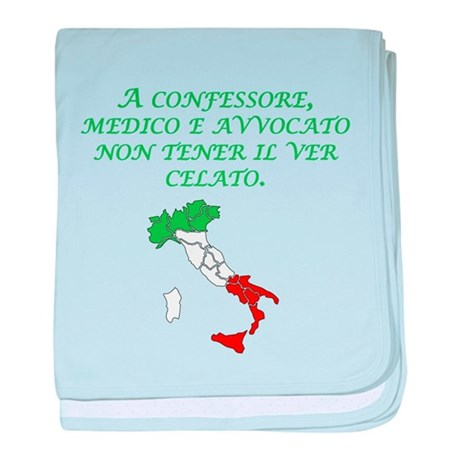 Italian Proverb Truth baby blanket