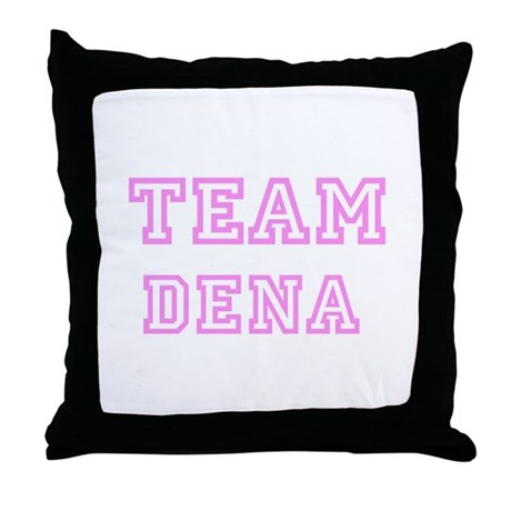 Pink team Dena Throw Pillow